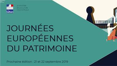 Les Journées Européennes du Patrimoine 2019